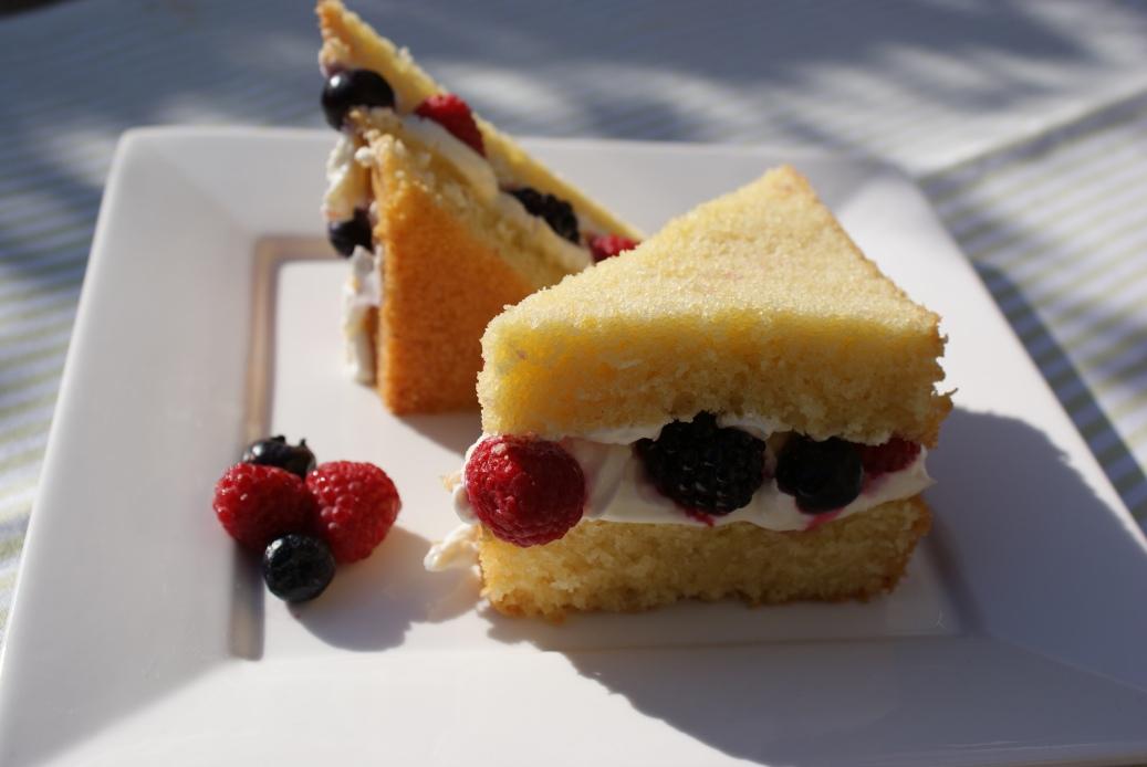 Cake met rood fruit
