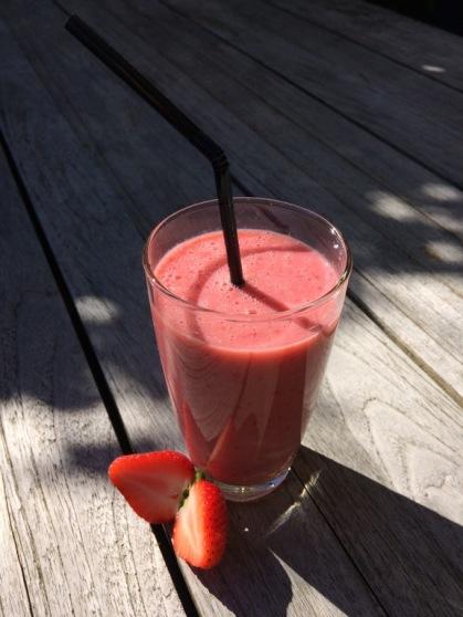 Aardbeien smoothie